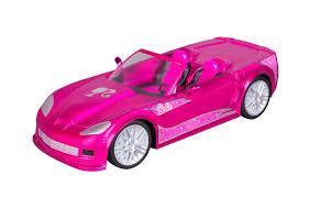 barbie crusin convertible corvette radio control car pink toys