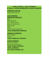 excel profit and loss template 7 free excel documents download
