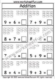 picture addition u2013 sums up to 5 u2013 four worksheets kindergarten