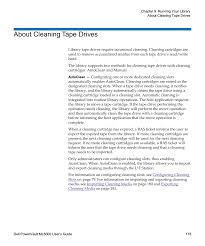 about cleaning tape drives dell powervault ml6000 user manual