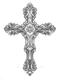 drawings of crosses with rosary note9 info