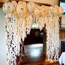 wedding backdrop paper flowers best 25 paper backdrop ideas on diy backdrop paper