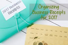 organizing business receipts for 2017