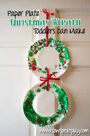 paper plate wreath simple and a great learning