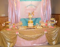 carousel baby shower pink and turquoise carousel baby shower candy buffet