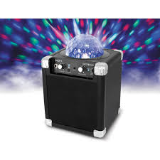 ion portable speaker system with party lights ion audio house party compact wireless speaker house party b h
