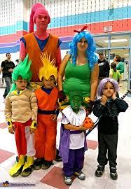 Saiyan Halloween Costume Dragon Ball Family Costume