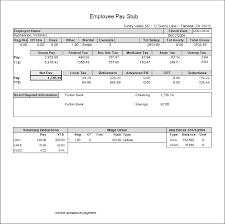 Paystub Template Excel Sle Pay Stub Template Excel