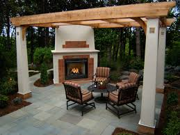 top outdoor patio fireplace in modern home interior design ideas