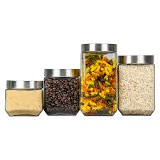 Clear Glass Kitchen Canisters Food Storage Cookie Jars Canister Sets U0026 Glass Bowls With Lids