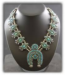 real turquoise necklace images Inlay jewelry jpg