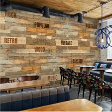 aliexpress com buy letter wood photo wallpaper mural papel mural