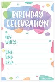amazon com watercolor dots birthday party invitations fill in