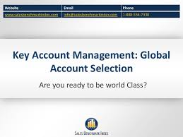 key account management global account selection