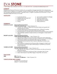 Resume Samples Livecareer by Financial Advisor Resume Template Learnhowtoloseweight Net
