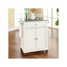 crosley furniture granite top kitchen island cart white kitchen