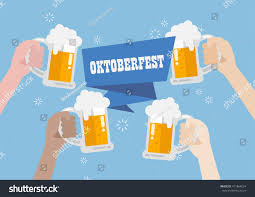 clinking glasses emoji oktoberfest people clinking beer glasses stock vector 471864074