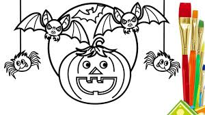Color For Happy How To Draw Halloween Halloween Drawings And Color For Kids