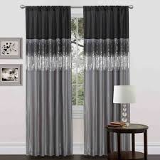 Grey And White Striped Shower Curtain White And Grey Curtains In The Living