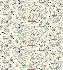 Map Fabric Treasure Map Fabric By Sanderson Jane Clayton