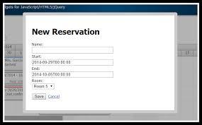 cara membuat website via html html5 hotel room booking javascript php mysql daypilot code