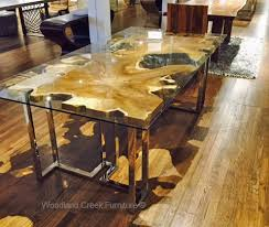 Walnut Slab Table Contemporary Dining Tables Rustic Dining Tables Solid Wood Tables