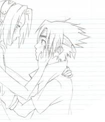 sasuke to sakura sketch by sei tenshi on deviantart
