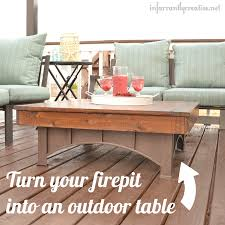 Fire Pit Coffee Table Outdoor Coffee Table Infarrantly Creative