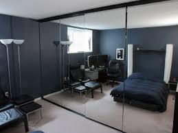 Oversized Closet Doors Bedroom Black And White Bedroom With Mirrored Closet Door Use
