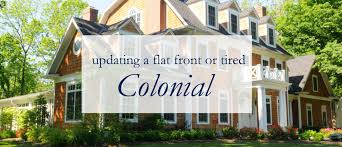 front porches on colonial homes updating a dated colonial exterior migonis home