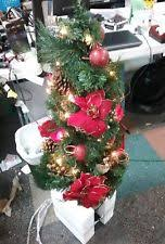 christmas tree with white lights and red bows home accents holiday pre lit burlap bow christmas tree doors windows