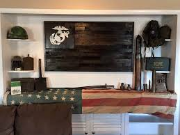 united states marine corps flag reclaimed wood repurposed