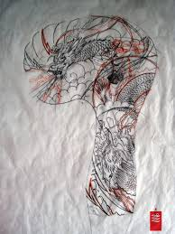 grey dragon and phoenix tattoo designs photos pictures and