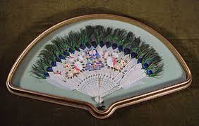 peacock feather fan antique peacock feather fan item 1002348