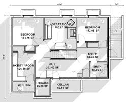 lofty ideas house floor plans with basement contemporary