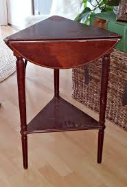 triangle shaped coffee table triangle side table makeover little vintage cottage