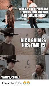 Carl Rick Meme - whatsthedifference between rick grimes and carl grimes rick grimes