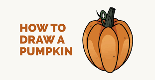 how to draw a pumpkin easy drawing guides