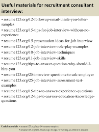 Resume Samples For Job With No Experience by Top 8 Recruitment Consultant Resume Samples