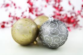 free photo of baubles in silver and gold