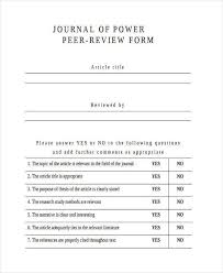 article review writing sample