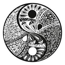 yin yang tattoo for design symbol illustration stock vector