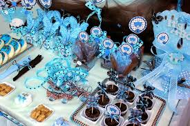 teddy baby shower theme brown blue teddy theme baby shower party ideas photo 12