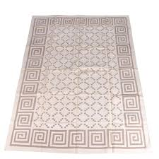 Indian Area Rug Flatweave Handwoven Indian Dhurrie Wool Area Rug Ebth