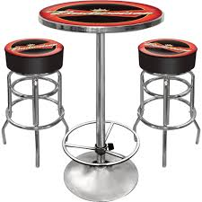 game room combo with bar stools u2014 budweiser bowtie logo www