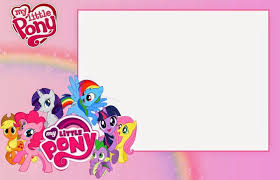 my little pony invitation template for girls kids birthdays