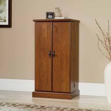 sauder cherry bookcase sauder orchard hills multimedia storage cabinet milled cherry