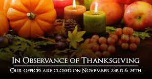 city of ta on in observance of thanksgiving our