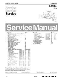 Philips Em3e Service Manual Menu Computing Television