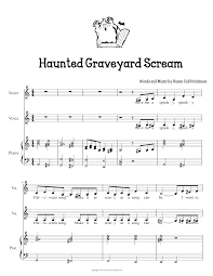 halloween songs music sheets u2013 festival collections
